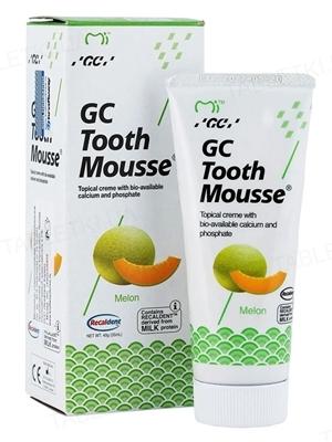 Крем стоматологический GC Tooth Mousse для восстановления эмали зубов, Дыня, 35 мл