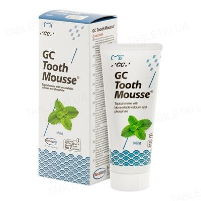 Крем стоматологический GC Tooth Mousse для восстановления эмали зубов, Мята, 35 мл