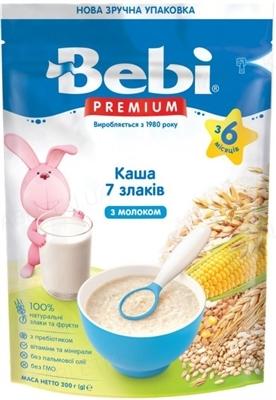 Сухая молочная каша Bebi Premium 7 злаков, 200 г
