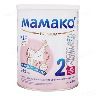 Сухая молочная смесь MAMAKO 2 Premium с 6 до 12 месяцев, 400 г