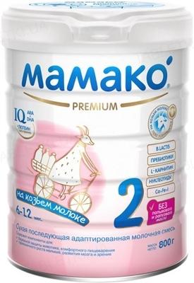 Сухая молочная смесь MAMAKO 2 Premium с 6 до 12 месяцев, 800 г