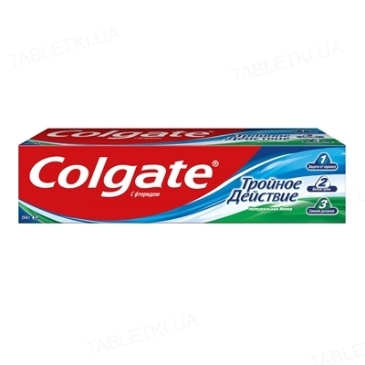 Зубная паста Colgate Тройное действие, Натуральная мята, 100 мл