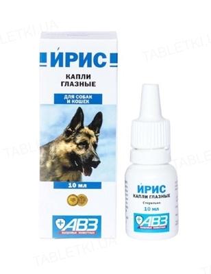 Ірис краплі очні для собак і кішок, 10 мл