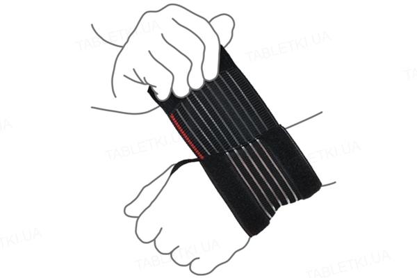 Бандаж на лучезапястный сустав ReМed R8101 UNI облегченный, черный , размер универсальный