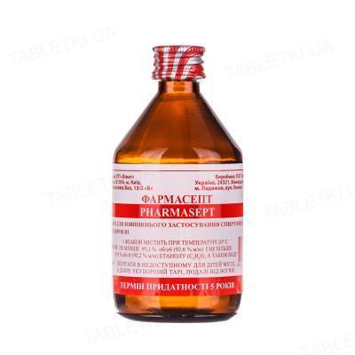 Фармасепт раствор д/наруж. прим., спирт. 96 % по 100 мл во флак. (бан.)