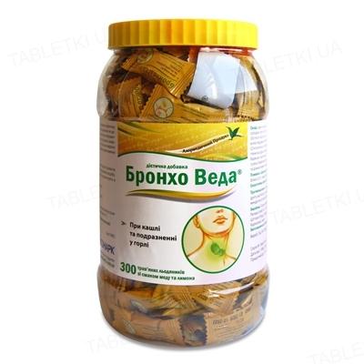 Бронхо Веда леденцы со вкусом меда и лимона леденцы №300 в бан. в упак. инд.