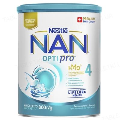 Молочко NAN 4 Optipro для детей с 18 месяцев, 800 г