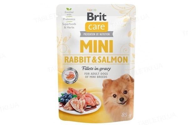 Корм влажный для собак Brit Care Mini филе кролика и лосося в соусе, 85 г