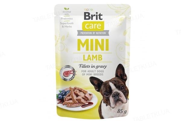 Корм влажный для собак Brit Care Mini филе ягнёнка в соусе, 85 г
