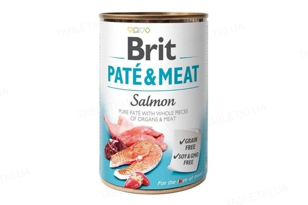 Корм влажный для собак Brit Care со вкусом лосося и курицы, 400 г