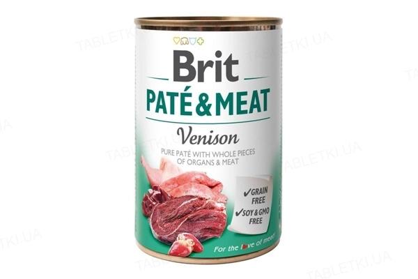 Корм влажный для собак Brit Care со вкусом оленины и курицы, 400 г