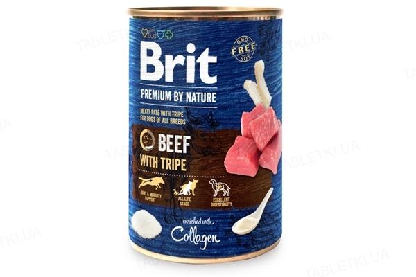 Корм влажный для собак Brit Premium Говядина с требухой, 400 г