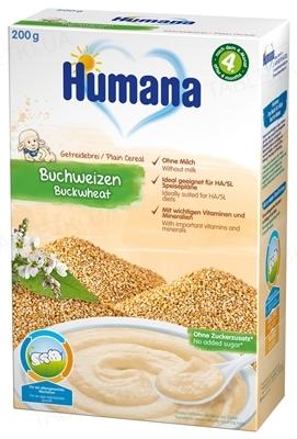 Сухая безмолочная каша Humana гречневая для детей с 6 месяцев, 200 г