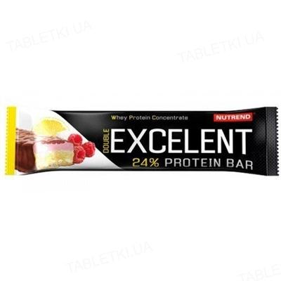 Батончик протеиновый Nutrend Excelent Protein bar Double лимон + творог + малина с клюквой, 85 г