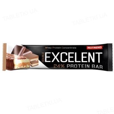 Батончик протеиновый Nutrend Excelent Protein bar Double шоколад + нуга с клюквой, 85 г