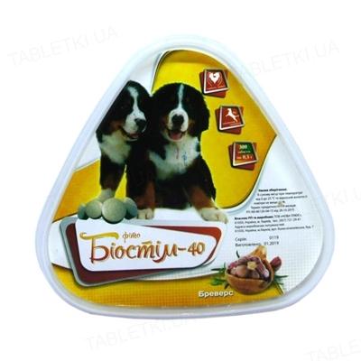 Биостим-40 Фито Бреверс с дрожжами и чесноком для собак, 300 таблеток