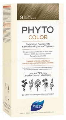 Крем-краска Phyto Phytocolor, тон 9 блондин, 60 мл + 40 мл