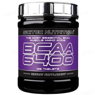 Аминокислота Scitec Nutrition BCAA 6400, 125 таблеток