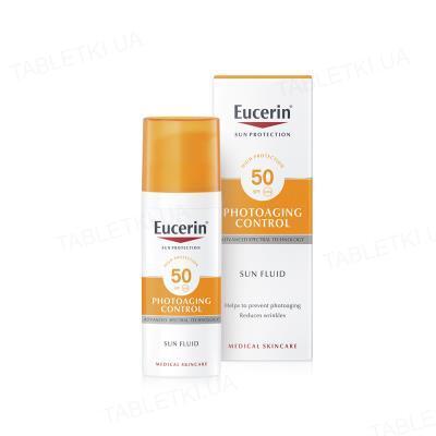 Флюид солнцезащитный Eucerin Sun антивозрастной для лица, SPF 50, 50 мл