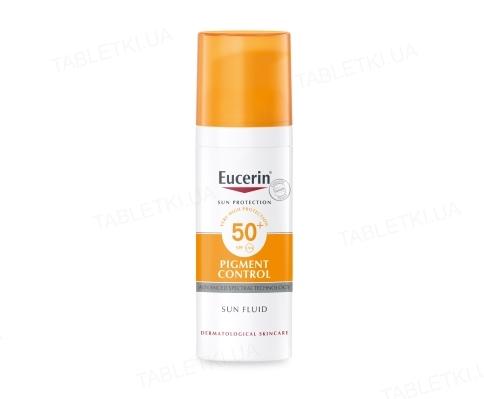 Флюид солнцезащитный Eucerin Sun Pigment Control для лица против гиперпигментации, SPF 50, 50 мл