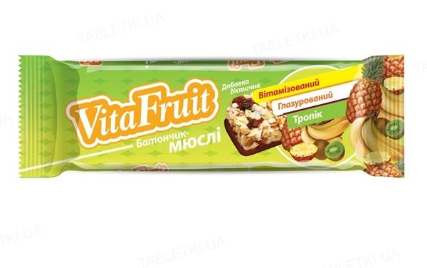 Батончик-мюсли Vita Fruit Тропик по 25 г в оберт.