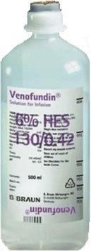 Венофундин раствор д/инф. по 500 мл №10 в конт.