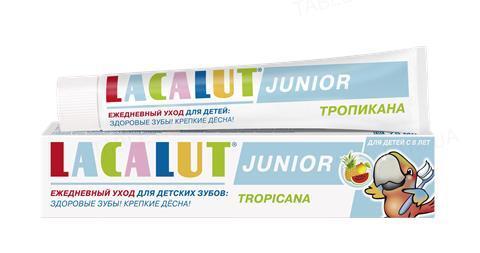 Зубная паста Lacalut Junior, Тропикана, 75 мл
