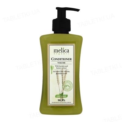 Бальзам-кондиционер Melica Organic для объема с кератином и экстрактом меда, 300 мл