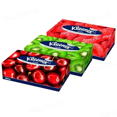 Салфетки косметические Kleenex Family двухслойные в коробке, 150 штук