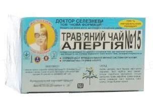 Фиточай Доктора Селезнева №15 для профилактики и лечения аллергии по 1,5 г №20 в фил.-пак.