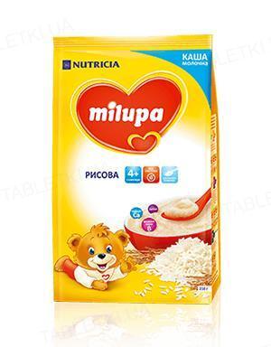 Сухая молочная каша Milupa быстрорастворимая рисовая для детей с 4 месяцев, 210 г
