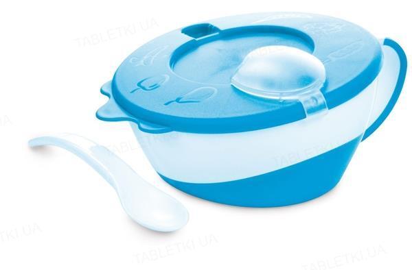 Набір тарілка з ложкою Canpol babies, синя, 31/406_blu