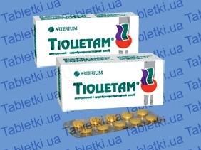 Тиоцетам таблетки, п/о №30 (10х3)