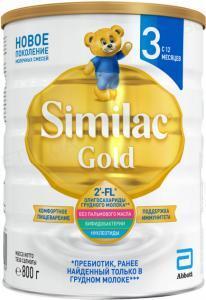 Сухая молочная смесь Similac Gold 3, для детей с 12 месяцев, 800 г