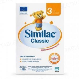 Сухая молочная смесь Similac Classic 3, для детей с 12 месяцев, 600 г