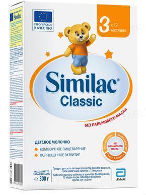 Сухая молочная смесь Similac Classic 3, для детей с 12 месяцев, 300 г