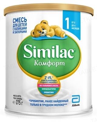 Сухая молочная смесь Similac Комфорт 1, для детей с рождения, 375 г