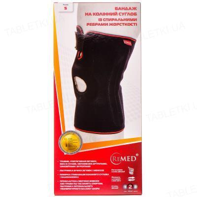 Бандаж на коленный сустав ReMed R6202 со спиральными ребрами жесткости, размер S