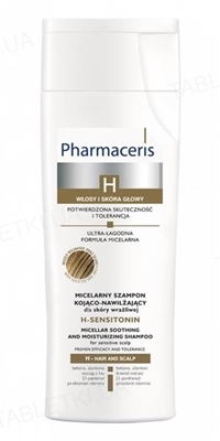 Шампунь Pharmaceris H H-Sensitonin мицеллярный успокаивающий увлажняющий для чувствительной кожи, 250 мл