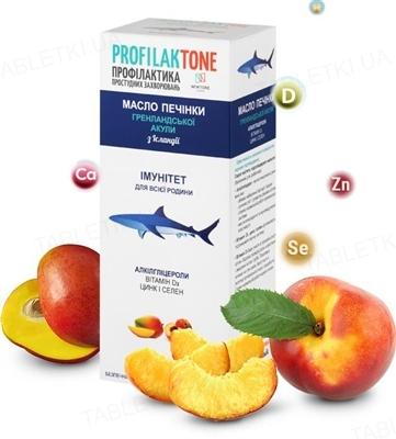 Профилактон Масло печени гренландской акулы сироп со вкус. манго и персик. по 165 мл во флак.