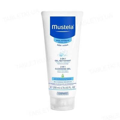 Гель для волосся та тіла Mustela 2 in 1, очищуючий, 200 мл