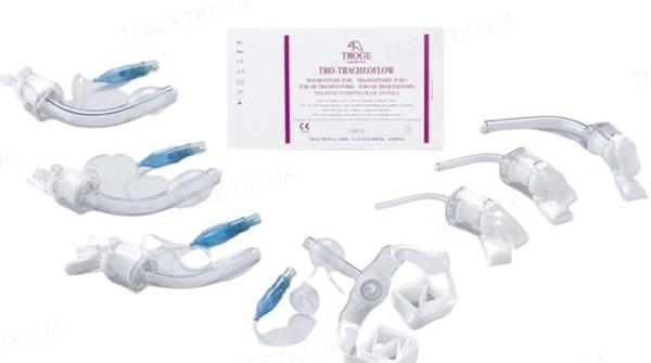Трубка трахеостомическая Troge TRO-TRACHEOFLOW с манжетой, размер 8