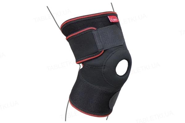 Бандаж на коленный сустав ReMed R6102UNI разъемный, черный, размер универсальный