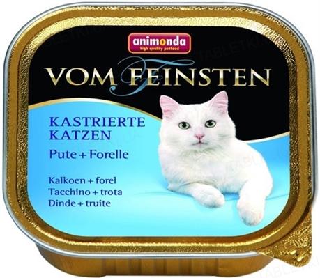 Консерви для кастрованих котів Animonda Vom Feinsten з індичкою і фореллю, 100 г (32 шт)