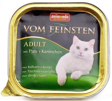 Консервы для кошек Animonda Vom Feinsten с индейкой и кроликом, 100 г (32 шт)