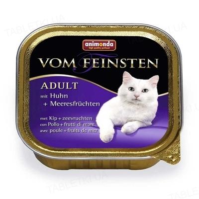Консервы для кошек Animonda Vom Feinsten с мясом курицы и морепродуктами, 100 г (32 шт)