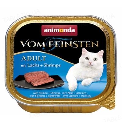Консервы для кошек Animonda Vom Feinsten с мясом лосося и креветками, 100 г (32 шт)