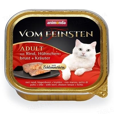 Консерви для кішок Animonda Vom Feinsten Adult з домашньою птицею і телятиною, 100 г (32 шт)