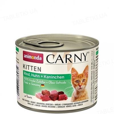 Консервы для кошек Animonda Carny с мясом курицы и кролика, 200 г (6 шт)