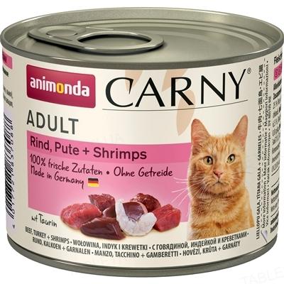 Консервы для кошек Animonda Carny с индейкой и креветками, 200 г (6 шт)